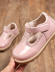 cheap -Girls' Oxfords Comfort School Shoes Halloween Patent Leather Little Kids(4-7ys) Daily Party & Evening Magic Tape Black Red Pink Summer