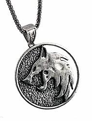 cheap -witcher wolf necklace medallion pendant souvenir collection (a)