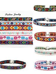 cheap -national ribbon six-piece necklace choker collar cross-border e-commerce source factory direct sales ck20171221