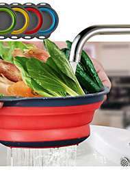 cheap -Foldable Drain Basket Colander Fruit Vegetable Washing Basket Strainer Collapsible Drainer with Handle Kitchen Storage Tools