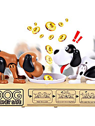 cheap -Stealing Coin Dog Box- Piggy Bank - Two Dogs - Eat Coin Machine Electronic Money Bank Toy