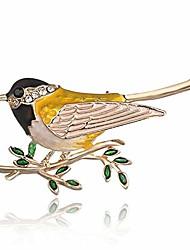 cheap -lkeep rhinestone little bird tree branch pins brooches for men women suits dress banquet brooch gift,black head