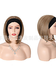 cheap -headband wigs cross-border ice ribbon short wave wave factory spot wholesale short straight hair wig hair cover