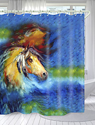 cheap -Color Pegasus Digital Printing Shower Curtain Shower Curtains Hooks Modern Polyester New Design 72 Inch