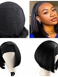 cheap -wig female hair chemical fiber stretch mesh ice silk hair band bobo turban wig short straight hair bobo