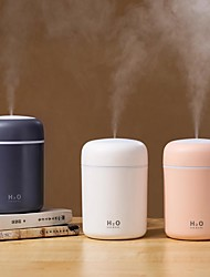cheap -2pcs 300ml Air Humidifier USB Ultrasonic Aroma Essential Oil Diffuser Romantic Soft Light Humidifier Mini Cool Mist Maker Purifier