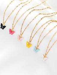cheap -fashion butterfly earrings necklace set 2 piece set jewelry