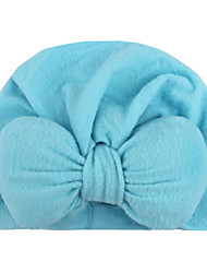 cheap -european and american baby products, baby knotted pullover hat, monochrome bowknot indian hat, children's polyester cotton hat