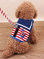 cheap -Dog Pets Harness Portable Vest Polyester Blue Pink 2pcs