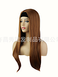 cheap -wigs female headscarves wigs chemical fiber long straight hair hair wigs headgear foreign trade new manufacturers
