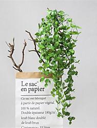 cheap -Simulation Plant Rattan Hanging Basket Restaurant Layout Simulation Eucalyptus Wall Hanging 97cm