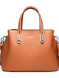 cheap -Women's Bags PU Leather Satchel Top Handle Bag Date Office & Career 2021 Handbags Black Red Khaki Brown