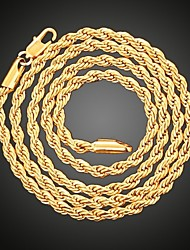 cheap -3mm set chain necklace bracelet 3mm 18k gold necklace bracelet set