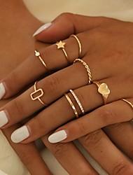 cheap -Women's Ring Set Heart Star Stylish Simple European Sweet Rhinestone Earrings Jewelry Gold For Party Evening Street Prom Festival