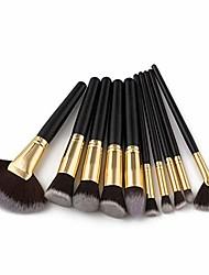 cheap -makeup brushes set 10pcs multi function brush oblique eyebrow face powder concealer eye shadow brush ladies women cosmetic brush (black)
