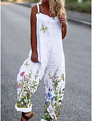 cheap -european and american foreign trade loose printing summer women's jumpsuit
