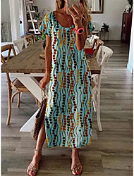 cheap -2021 amazon independent station wish european and american women's summer new loose large size printed dress