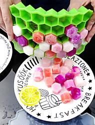 cheap -37 Cavity Ice Silicone Cube Tray Cavity Mold Tray Honeycomb Flexible for DIY Baking Handicraft