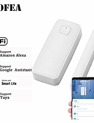 cheap -Wofea 433mhz / Wifi Wireless Window & Door Sensor Wifi Contact Magnetic Detector Smart Door Sensor Battery Not Included