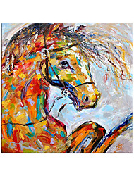 cheap -100% Hand Painted By Professional Artist Animal Horse Canvas Painting Modern Art Oil Painting On Canvas Living Room Home Decor Animal Art