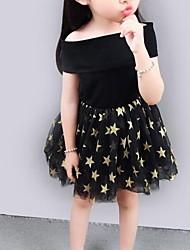cheap -Kids Little Girls' Dress Polka Dot Tutu Dresses Mesh Print Type A Type B Knee-length Short Sleeve Basic Tutus & Skirts Dresses Summer Regular Fit 1-5 Years