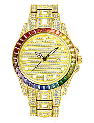 cheap -missfox watch gradient rainbow diamond full diamond waterproof men's quartz watch