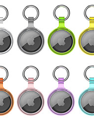 cheap -Multicolor Clear Case For Apple AirTags 2021 Portable Bluetooth Tracker Cover Anti-lost Anti-Scratch Lightweight Protective Cover with Keychain for AirTages Key Finder Accessory
