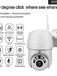 cheap -1080P Wireless Network Camera Home Surveillance Motion Detection Camera Automatically Tracks Outdoor Waterproof Security Webcam