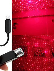 cheap -LED Car Roof Star Night Light Projector Light Interior Ambient Atmosphere Galaxy Lamp Decoration Light USB Christmas Gift Lamp Adjustable Multiple Lighting Effects