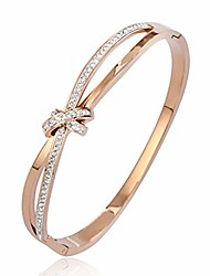 """cheap -phogary""""forever and ever knot"""" classic bracelets for women rose gold bracelet crystals, birthday thanksgiving christmas xmas gift for women mum mother wife-come with gift box"""