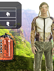 cheap -Unisex Fishing Clothes Mesh Hood Mosquito Repellent Suit Anti Mosquito Clothes Insect-proof Jacket Set for Outdoor Protection