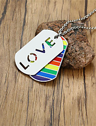 cheap -Couple's Pendant Necklace Classic Fashion Titanium Steel Rainbow 60 cm Necklace Jewelry 1pc For Anniversary Gift Birthday Party Festival