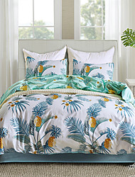 cheap -Duvet cover set with zipper with chic botanical floral printed, exceptionally breathable yet fade and stain