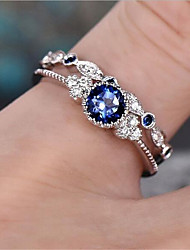 cheap -Promise Ring Geometrical Blue Green Zircon Copper Glass Precious Fashion 1 set 7 8 9 / Women's