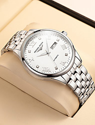 cheap -men's automatic mechanical watches hollow luminous waterproof stainless steel belt
