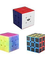 cheap -MoYu Speed Cube Set Jelly Speed Cube 3x3x3 Carbon Fiber Cyclone Boys 3x3 Stickerless Magic Cube Bundle Puzzle Toys