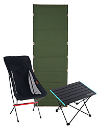 cheap -Camping Cot Outdoor Foldable Easy to Install Heavy Duty Alumium Alloy Oxford for 1 person Fishing Beach Camping Black Yellow Green 187*60*13.5 cm with Side Pocket