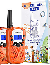 cheap -Walkie Talkies for Kids, 3 KMs Long Range 22 Channels Two Way Radios for Boys and Girls, Walky Talky for Age 3-12 Years Old Kids, Outside Play Toys for Hiking Camping (Black/Orange/Pink)