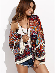 cheap -amazon wish europe and the united states cross-border source of autumn shawl printed beach blouse cardigan foreign trade