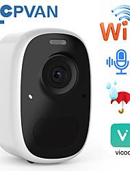 cheap -cpvan ip battery camera outdoor 1080p wireless home security camera ip65 watherproof outdoor pir app alarm push