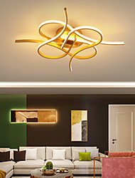 cheap -LED Ceiling Light Black Gold Includes Dimmable Version 50/60 cm Circle Design Flush Mount Lights Metal Artistic Style Modern Style Painted Finishes Artistic LED 110-120V 220-240V