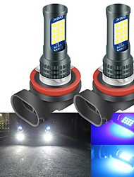 cheap -2PCS H8 H9 H11 LED Bulbs Led Auto Front Fog Light Bulb 3030 24SMD Led Headlight Lamps Bulb Car Driving Running Lamp 12V