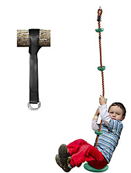 cheap -Climbing Rope Swings for Trees, Heavy Duty Plastic Disc Swing Seat for Kids and Adults with Hanging Strap and Snap Hooks, Green