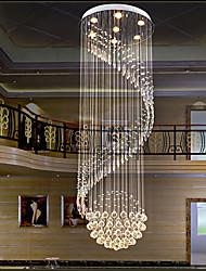 cheap -Crystal Chandelier LED Ceiling Light Modern Luxury For Spiral Design 200cm Lamp Hanging Light Interior Ladder Corridor Lamp 7 Heads 110-120V 220-240V