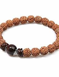 cheap -balibali handmade 5 mukhi rudraksha bracelet beaded meditation wrist tibetan bracelet japa prayer charm bracelets