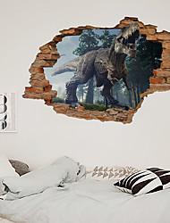 cheap -3D Broken Wall Dinosaur Park Children's Room Home Background Decoration Can Remove Sticker