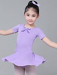 cheap -Ballet Dress Bowknot Solid Girls' Training Performance Short Sleeve High Cotton Blend