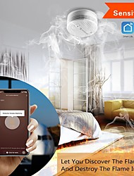 cheap -SMARSECUR Wifi Smoke Detector Smoke Sensor Highly Sensitive For smart Life app control Power by Tuya