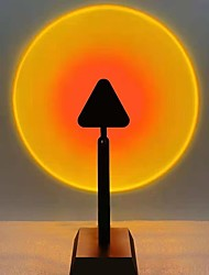 cheap -Sunset Light Tiktok Instagram Triangle Shape Sunset Rainbow Projector Bedroom Living Room Projection Sunset Light Outdoor Live Broadcast Background