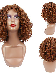 cheap -Afro Kinky Curly Wigs for Women High temperature Synthetic Wigs Medium long hair Heat Resistant Fiber Free Cap